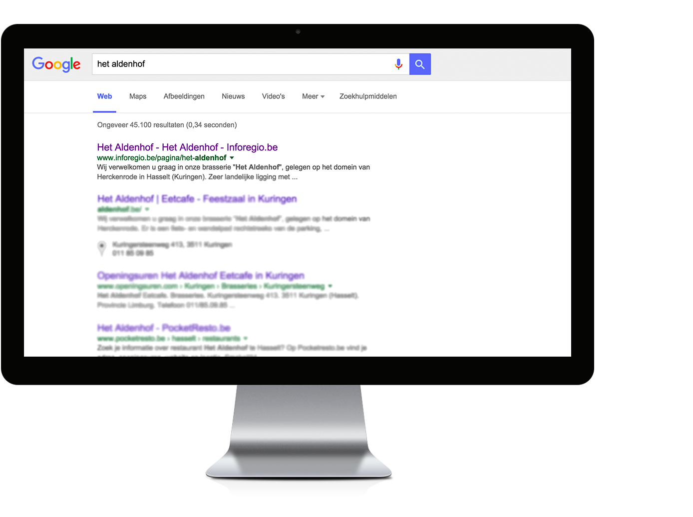 Inforegio SEO - Google optimalisatie - Eigen website