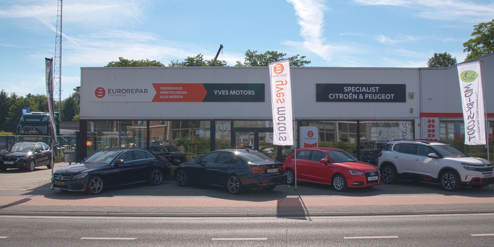 Header Yves Motors - Citroën garage Tessenderlo