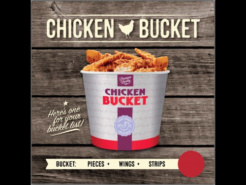 New York Chicken Stripes/Wings Bucket