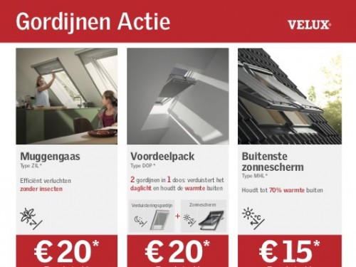 Gordijnen Actie (Velux) - Decorette Vanneste - Inforegio.be