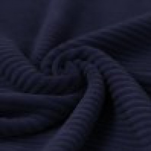 Big knitted corduroy navy blauw
