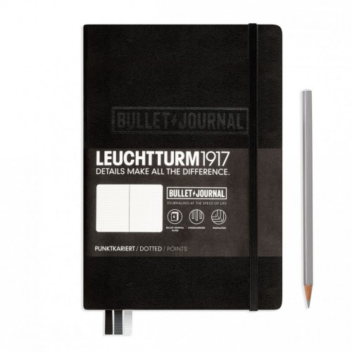 Leuchtturm 1917 bullet journal zwart
