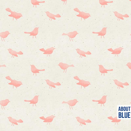 Birds - about blue fabrics- french terry COUPON 160 cm