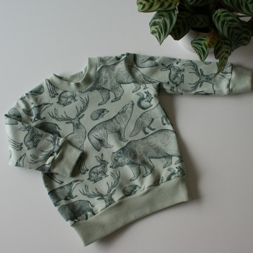 Sweater Forest print maat 68 - 80