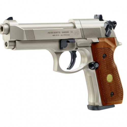 Beretta M92 FS nickel wood
